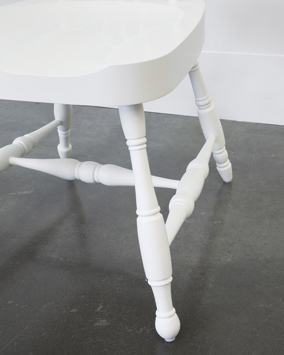 A New White Chair From A Dark Old House / Domestic Furniture
